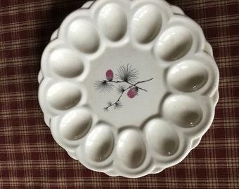 Canonsburg Wild Clover Egg Plate