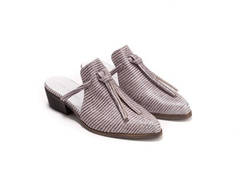 Mules, Mules Shoes, Leather Mules, Handmade Mules, Slip On's, Backless Loafers, Izzy // Free Shipping