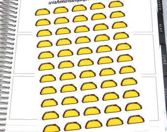 Taco Stickers - Food Stickers - Planner Stickers