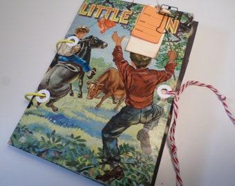 JUNK JOURNAL- Altered Book-Vintage Journal, Art Book, Travel Journal,Handmade Junk Journal, Altered Junk Journal-Over 90 Pages