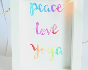 Yoga Print || Yoga Gift ||  Calligraphy Print || Yoga Studio Art || Yoga Art || Yoga Wall Art || Yoga Decor || Yoga Calligraphy ||