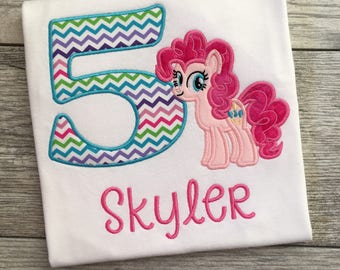 My Little Pony Appliqued and Embroidered Shirt