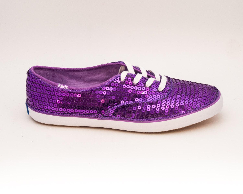 Purple Sparkle Tennis Shoes