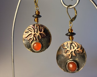 Alá Matisse Earrings with Cabochons with rustic leverbacks