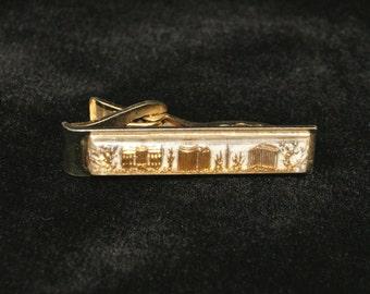 """Vintage Men's Eames Era Gold Tone Washington DC Tie Clip - 1 11/16"""" W"""