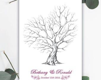 Rustic Fingerprint Tree - PRINTED COPY