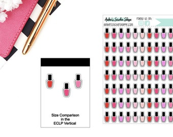 Classic Nail Polish Planner Stickers