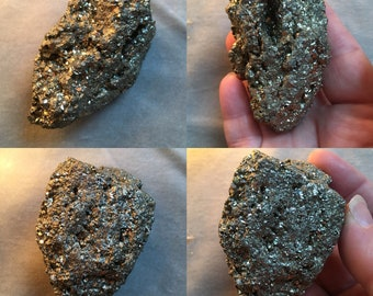 PYRITE raw gemstone chunk mineral specimen golden pyrite stone of success and abundance sparkling