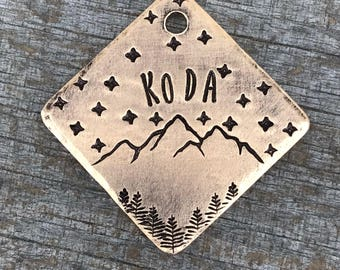 Dog Tag, Dog Tags for Dogs, Dog Tags, Aspen Night, Pet Id Tag, Personalized Dog Tag, Metal Hounds