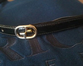 Vintage Classic Gucci GG Buckle leather belt 75