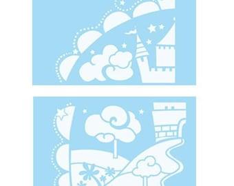 "2 stencils Marabu ""Princess Castle"" 40 x 66 cm"