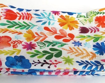Large Cloth Napkins, Set of Four - Watercolor Flowers // Everyday Napkins // Family Napkins // Eco Friendly // Hostess Gift // Housewarming