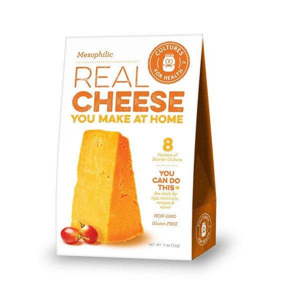 Mesophilic Cheese Culture make REAL CHEESE at home Gluten Free Non-GMO