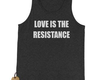 Love Is The Resistance Jersey Tank Top for Men