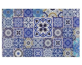 Arasbeque 46X76X Floor Mat Blue Tiles 0.4 cm
