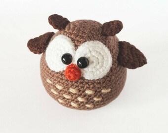 PATTERN: Crochet owl pattern - Amigurumi owl pattern - crocheted owl pattern - PDF crochet pattern - tutorial
