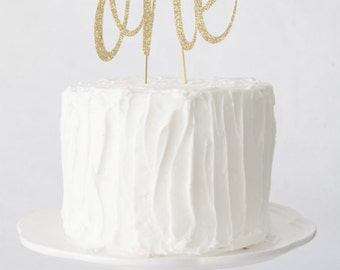 First Birthday Numbered Cake Topper