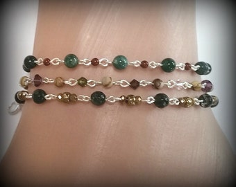 Dainty Chain Link Bracelets - Gemstones, Crystals, and Picture link