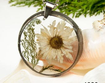 Necklace with natural flower Z1298 Romantic jewelry Terrarium necklace Gift for her Dried flower jewelry Real plant jewelry Resin jewelry