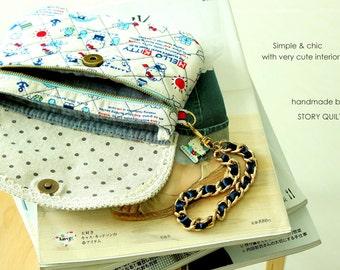 Zip Pocket| Purse  Pattern | PDF Purse Pattern | Sewing Pattern | bag Pattern | bag tutorial | handbag sewing pattern | clutch bag