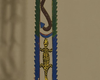 Papua New Guinea Tolai Dance Wand New Britain Painted Wood Dance Performance Wand