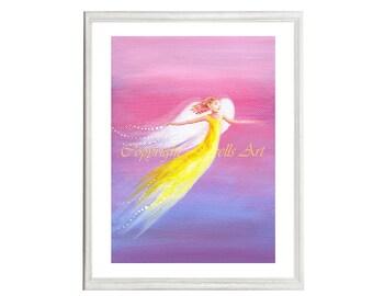 Hope Art Print, Part of the Angels Rising Series, Spiritual Art, Feng Shui Art, Healing Art, Art & Collectibles