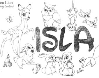 Personalised Disney Inspired Drawing