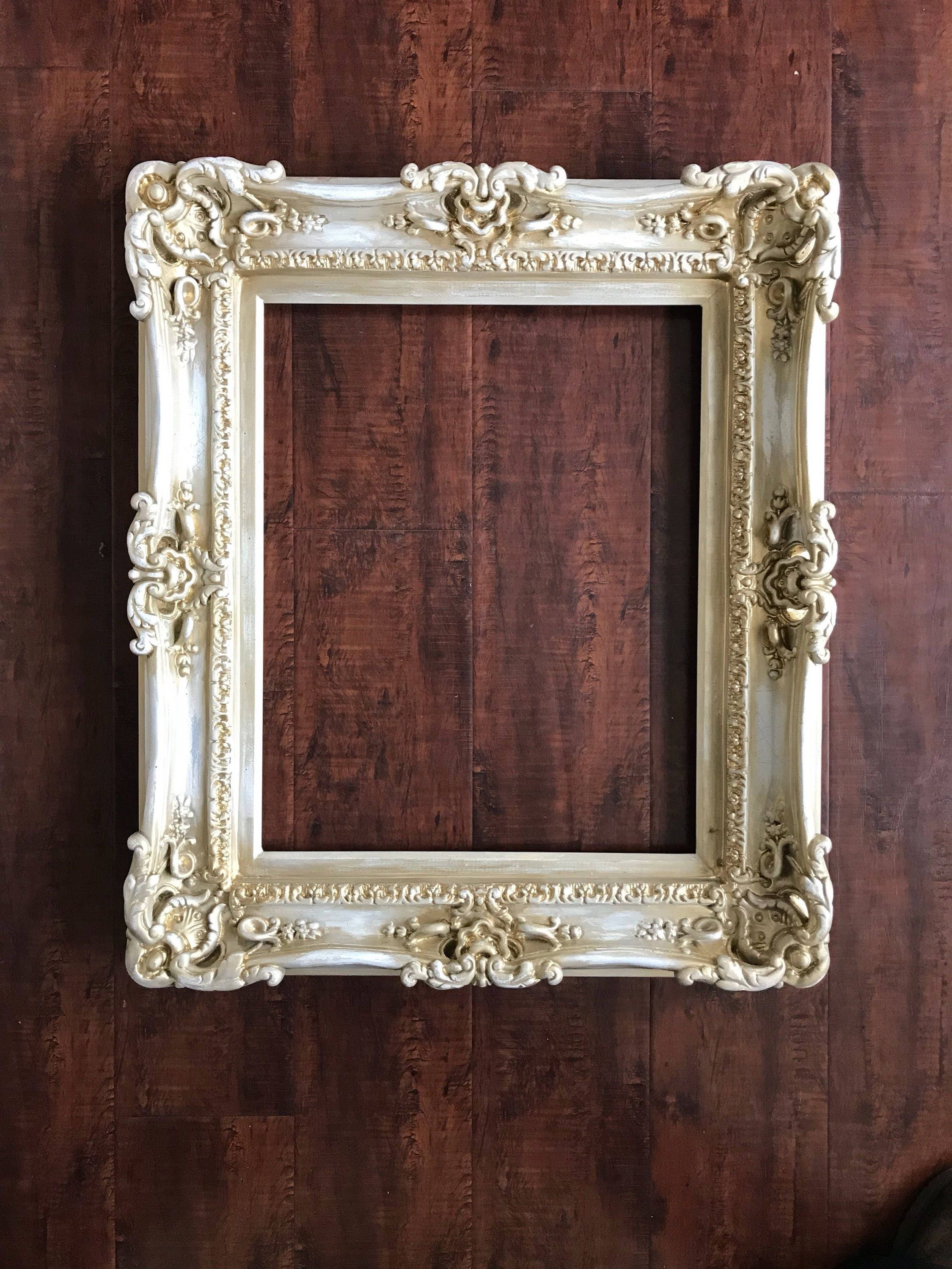 16x20 Distressed Shabby Chic Frames, Baroque Frame, Frame for Canvas ...