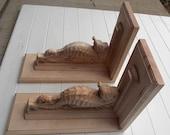 Seahorse Wood Shelf Brack...