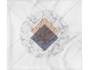 Marble Geometric Pillow Case only