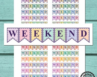 Weekend Planner Stickers Printable Planner Stickers Download Planner Stickers (ni22a)