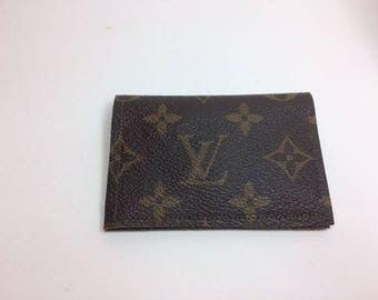 Louis Vuitton Wallet, Upcycled LV Monogram Wallet, Recycled, Reworked, Upcycled, Repurposed, Keepall, Neverfull,, Mini Wallet