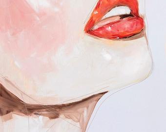Desert - Fashion Painting Portrait Art Print