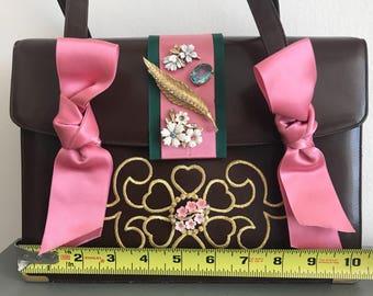 Vintage Koret Embellished Upcycled Handbag