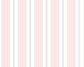 Racer Stripes in Soft Pink Best of Sarah Jane for Michael Miller Fabrics (Children at Play reprint)
