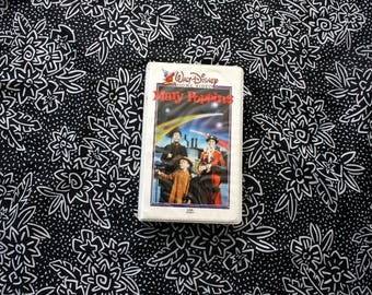 Mary Poppins Rare 70s or 80s Disney Clamshell VHS Tape. Original Rare Mary Poppins Disney VHS Collectible Movie.