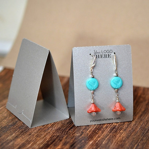 Diy Bracelet Display Card: Custom Free Standing Tent Earring Display Cards With Your Logo