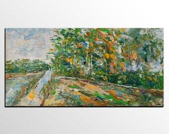 Oil Painting Landscape, Canvas Art Painting, Original Painting, Abstract Landscape Painting, Bedroom Wall Art, Abstract Art, Large Painting