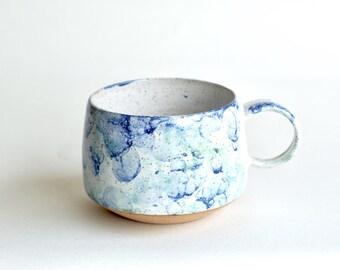 Handmade Pottery Mugs - MADE TO ORDER - Ceramic Cups - Ceramic Mugs - Coffee Mugs - Latte Mugs - Bubble Glaze - Long Island Waters
