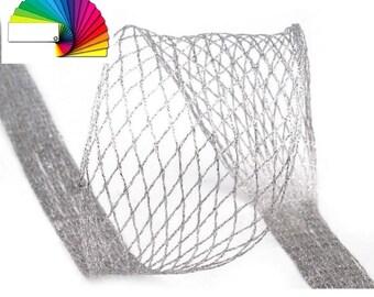 Metallic Decorative Wired Mesh Ribbon