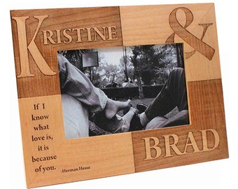 Personalized Wooden Frame - If I Know What Love Is...