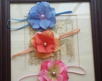 Blossom  flower headband set, Baby girl headband