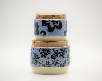 Ceramic Canisters, Stoneware containers, Modern rustic , Claylicious, READY TO SHIP, kitchen organization, clay jar