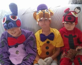 Five Nights at Freddy's INSPIRED Child Costumes and Hats. You choose character.