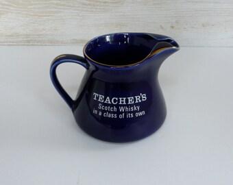 Vintage Jar Ceramic Scotch Teacher's from 1980s.