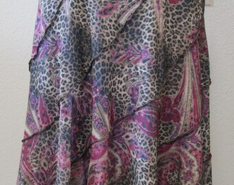 Paisley prints pattern long skirt or tube dress for your option to wear plus made in USA  (v13)