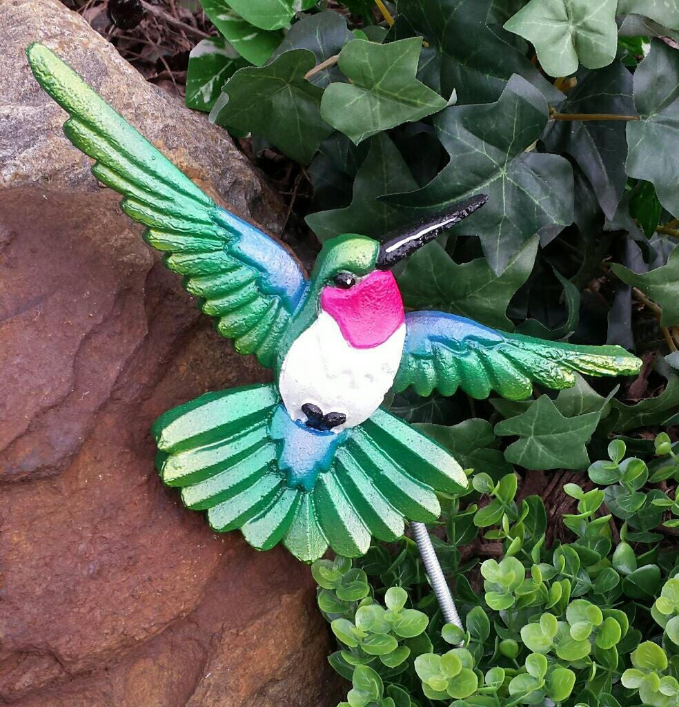Hummingbird Garden Decor Bird Garden Stakes Bird Figurine