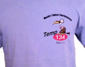 Body Faders Color Changing T-Shirt featuturing World's Tallest Thermometer Screen Print (Baker, CA)