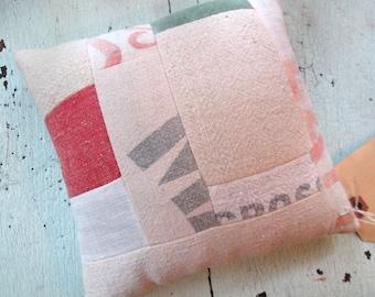 Grain Sack and Buckwheat Hull Mini-Pillow