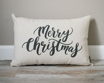 Merry Christmas Pillow | Holiday Pillow | Christmas Gift | Rustic Decor | Holiday Decor | Christmas Decor